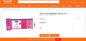 Proof Added VLCC Steal - Buy Skin Tightenening Facial Kit worth Rs 600 for Rs 99 only
