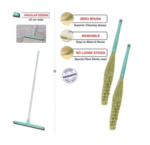 Pepperfry - Spotzero Zero Dust Broom with Floor Water Wiper - Set of 3 for Rs.299 only