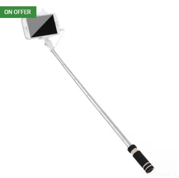Voltaa #SELFY Cable Selfie Stick (Black)