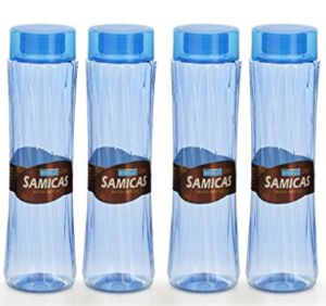 Steelo Plastic Water Bottle, 1.1 Litre, Set of 4, Blue at rs.197