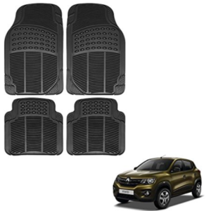 Vheelocityin Renault Kwid Car Mat Black / Black Rubber Foot Mat at rs.355