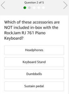 amazon app quiz time rockjam keyboard questions answers