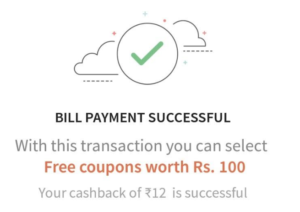 freecharge deals section