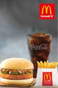 mcaloo tikki regular meal at Rs 95 only