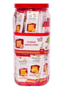 Amazon - Buy Paperboat Crushed Peanut Chikki Jar, 800g at Rs 187