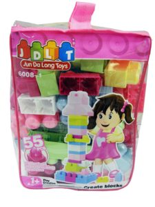 Amazon- Buy Toyhouse Building Blocks, Multi Color (55 Pieces) at Rs 318 image