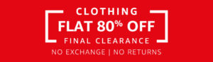 Amazon Fashion Clearance Sale- Get flat 80% Off on various Branded Fashion clothing image