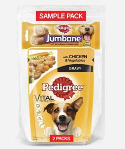 Amazon Loot Buy Pedigree Sample Pack for Dog at Re 1 only