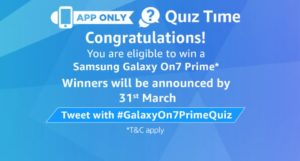 Amazon On7 Prime Contest Answers Today