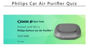 Amazon Philips GoPure Car Air Purifier Quiz answer
