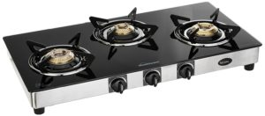 Amazon- Buy Sunflame GT Regal Stainless Steel 3 Burner Gas Stove, Black at Rs 3799 image