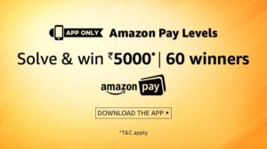 (Answers Added) Amazon Pay Levels Quiz – Participate , Solve and Win Rs 5000 image