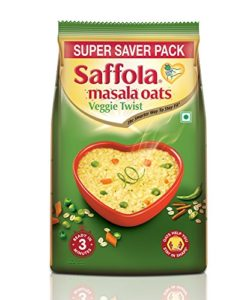 Buy Saffola Masala Oats Veggie Twist Pouch - 400 g for Rs.15 only