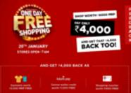 Central's One Day Free Shopping Sale- Get Shopping worth Rs 8000 at up to Free on 20th Jan 2018 image