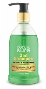 Amazon – Buy Core & Sure 3 in 1 Shampoo for Hair Strengthening Hair Growth Hair Protection 300 M at Rs.225 with APay Balance image