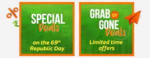 Flipkart The Republic Sale - Special offers and Grab or Gone Deals