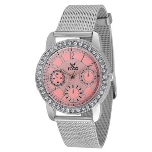Fogg Analog Pink Dial Women's Watch 4015-PK