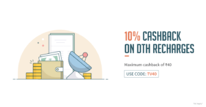 Freecharge- Get flat 10% cashback on your DTH Recharge via Freecharge (Max R 40) image