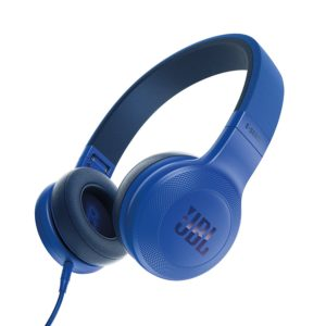 JBL E35 Signature Sound On-Ear Headphones with Mic (Blue)
