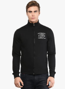 Jabong- Buy American Crew Black Solid Casual Jacket