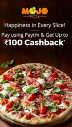 MojoPizza- Get Flat 20% Cashback on Min Transaction worth Rs 300 via Paytm (Max Rs 100) image