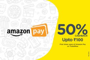 TicketNew - Book your Tickets and Get flat 50% cashback upto Rs 100 via Amazon Pay Balance