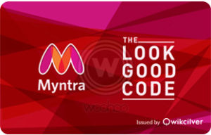 Woohoo- Get flat Rs 100 off on purchase of Myntra E-Gift Card