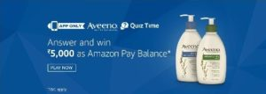 Amazon Aveeno Quiz Answer Today