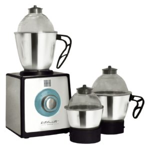 Amazon - Buy Cello Grind-N-Mix GNM1200-Platinni 850-Watt Mixer Grinder with 3 jars (Black and Silver)  at Rs 2895