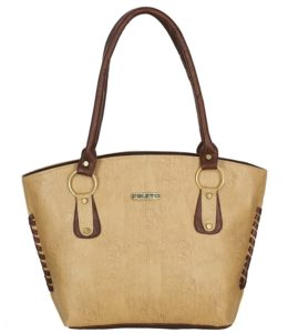 Amazon- Buy Fristo women's handbag (FRB-058) Beige and Tan at Rs 299