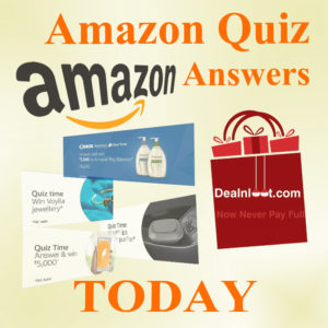 Amazon Quiz Answers Today Amazon Contest Answer List