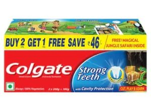 Colgate Toothpaste - Strong Teeth - 500 g - Anti-cavity-Saver pack