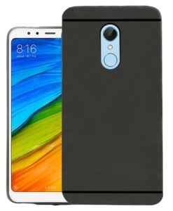 Jkob Matte+ Ultra Protection Rubberised Soft Back Case Cover For Xiaomi Redmi Note 5 -Black