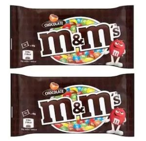 M&M'S Milk Chocolate Candy In Sugar Shell (Pack Of 2) with Free Urban Platter