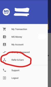 MS Online App Refer and Earn App