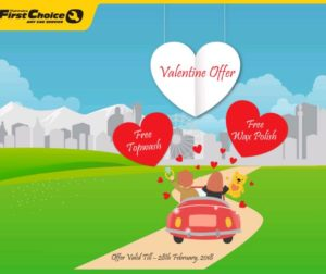 Mahindra First Choice Services Valentine's offer