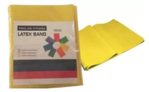 Proline Latex Band Resistance Band (Yellow, Pack of 1)