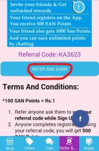 Reward Chat Refer and Earn