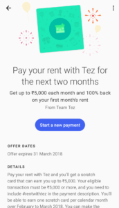 Tez- Pay Rent