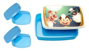Amazon- Buy Signoraware Night Safari Plastic Lunch Box Set, 3-Pieces, Blue at Rs 68