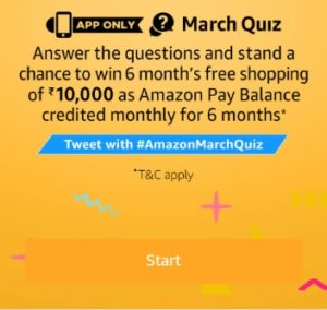 Amazon March Quiz Answer Today