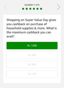 Amazon Super Value Day Quiz 2nd April