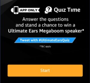 Amazon Ultimate Ears Speakers Quiz Time