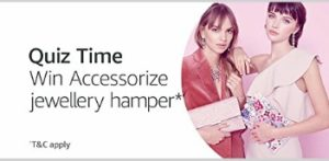 Answer of Amazon Accessorize Quiz Today