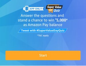 Answers Super Value Day Quiz