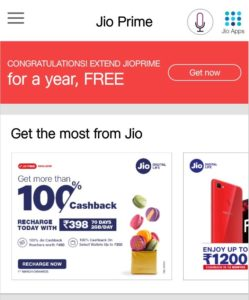 Jio Prime Extension Steps