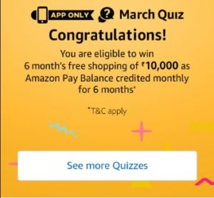 March Quiz Answers Contest