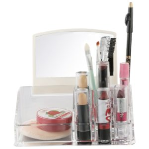 Miamour Plastic Make-Up Organizer, White