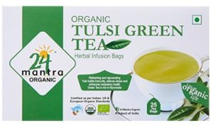 24 Mantra Organic Tulsi Green Tea , 25 tea bags at rs.75
