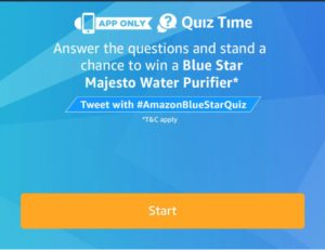 Amazon BlueStar Purifier Quiz Answers